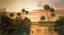 Dream-art Oil painting Martin Johnson Heade - The Great Florida Sunset canvas