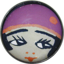 """Crystal Dome Button Roaring 20s Flapper Girl - """" Mimi Plum"""""""