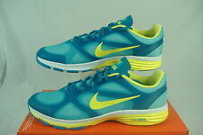 """New Womens 9.5 NIKE """"Dual Fusion TR"""" Blue Yellow Running Shoes $75"""