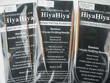"HiyaHiya 5.5mm x 80cm (32"") Bamboo Circular Knitting Needles"