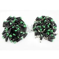 10-100Pcs Male Female DC Power Jack Connector Cable Adapter Socket CCTV Camera