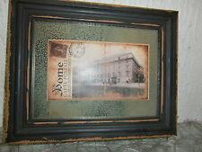 Shabby Chic Landhaus Rome Postkarte edles Holzbild Spiegel Vintage Bild Matt