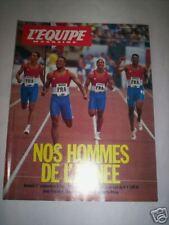 L'EQUIPE MAG DEC 1990 TITRE EUROPEEN 4 X 100M FRANCAIS