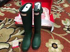 Authentic Hunter Women's Original Tall Matte Rain Boots Green Size 6