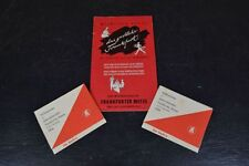 1954 Frankfurter Messe Hotel & Entertainment Guide and 2 Welcome Passes Germany