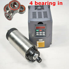 2.2KW 80MM AIR COOLED ER20 SPINDLE MOTOR 4 BEARING & INVERTER DRIVE VFD CNC