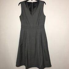 0638b083a82 J CREW Petite V-neck dress in Super 120s wool Dark Gray Women 4P Style