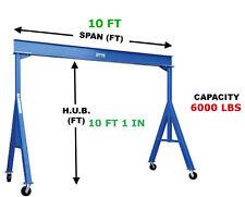 Vestil Fixed Gantry Crane - 3 Ton Capacity, Span 10 Ft, Hub 10 Ft 1 In