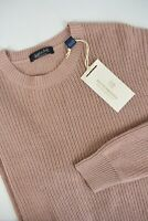 RRP €119 SCOTCH & SODA Men's LARGE Knitted Cotton Linen Blend Sweater 10768*mm