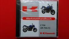 Werkstatthandbuch Reparaturanleitung Kawasaki Z 750  ( ZR 750-J1 )  Orig.CD