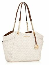 Original Michael Kors Bag Handbag Jet Set Travel Chain Tote Bag Vanilla New