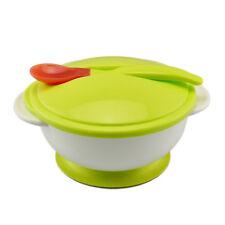 Kids Sucker Bowl Spoon Set Toddler Baby Feeding Eating Non-slip Tableware TB