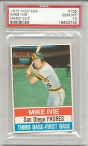 1976 Hostess HAND CUT #103 Mike Ivie Padres PSA 10 GEM MINT POP 2, L@@K !