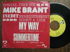MIKE BRANT 45 TOURS FRANCE SPECIAL JUKE BOX MY WAY