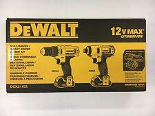 "DeWalt #DCK211S2: 12v MAX 3/8"" Drill-Driver & 1/4"" Impact Driver Combo Kit"