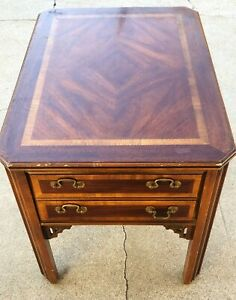 "Vintage Lane Furniture Mid Century Side End Table w/ one Drawer 20""Wx27""Lx22""H"