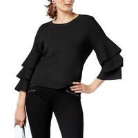 INC NEW Women's Tiered-sleeve Crewneck Sweater Top TEDO