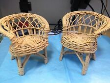 Two Wicker Style Doll Chairs-jp