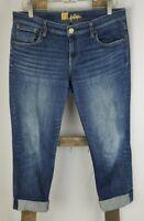 Kut From The Kloth women 6 blue cropped capri jeans denim