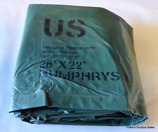 NEW Heavy Duty Rubberized All-Weather Tarp Large 26' x 22' US Military Surplus