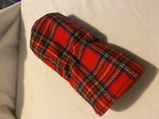 Wood Headcover - Driver wool Red Plaid
