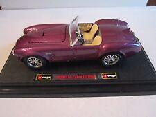 """BURAGO PURPLE (1965) FORD AC COBRA 427 DIE CAST CAR - 1:24 - 7"""" - METAL - EXCEL"""