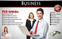 3500+ PLR Articles on Business Niche Private Label Rights
