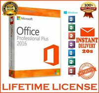 🔥MS OFFICE 2016 PROFESSIONAL PLUS✅ KEY LICENCE✅ORIGINAL KEY✅INSTANT DELIVERY