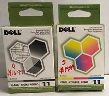 1ea. Dell Series 11 Black Cartridge (KX701) & 1ea. Dell Series 11 Color (KX703)