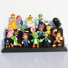 18 pcs Mini Super Mario Bros Lot Action Figure Doll Toy Gifts So Cute Funny
