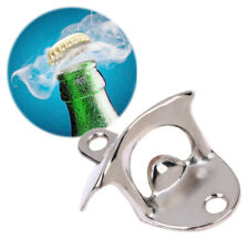 Bottle Opener Wall Mounted Vintage Beer Open Tool Home Bar Decor (Silver) BEST