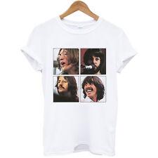 The Beatles Face rock John band music guitar unisex tee white t-shirt