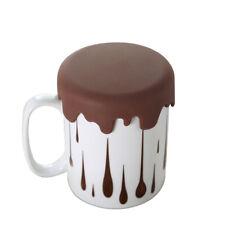 Taza de café con tapa chocolate, regalo original divertido, Taza de desayuno