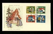Postal History Germany Fdc #B376-B379 Children fairy tales Hansel Gretel 1961