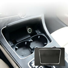 Console Cup Holder Box Trim Cover Silver For Mercedes Benz C Class W205 2015-19