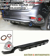 MZ-Style Rear Bumper Lip (ABS Plastic) Fits 17-18 Mazda 3 5dr (Hatchback)
