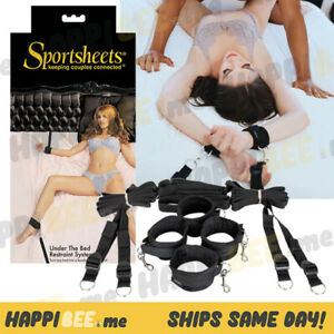 Sportsheets Under the Bed Restraint Kit💕Easy On Handcuffs Couples Ankles+Wrist