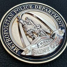 St Louis Police Department King Louis IX Statue and Badge Challenge Coin