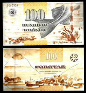 Faeroe (Faroe) Islands 100 Kronur, 2011 P-30 UNC ***Danish administration