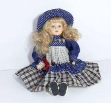 Fiori Strauss in blu casa delle Bambole Vaso Decorazione Stanza pianta miniatura 1:12