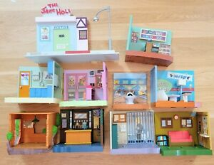 Lot Of Simpsons Interactive Buildings Scenes Jail Bowling Bar Jazz Hole Krusty