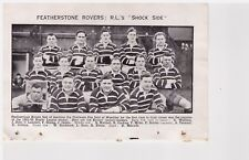 Team Pic from 1952-53 Football Annual - Featherstone Rovers + Workington Ivison