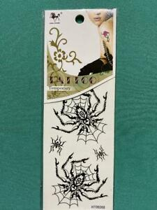 BLACK SPIDER WEB TATTOOS Temporary  party gift child adult HT08088