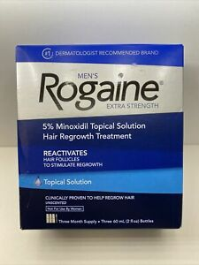 Rogaine Mens Extra Strength 5% Minoxidil topical Solution 3 Month Supply 01/2024