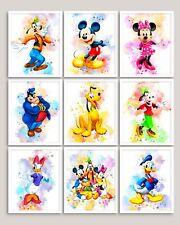 Disney Print Watercolour Wall Art Childrens Bedroom A3 A4 A5