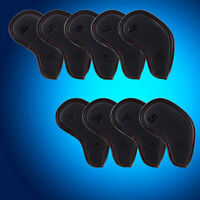 Black US Iron Club Cover Headcovers 9pcs/Set For Callaway Taylormade Mizuno Ping