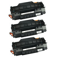 3 Pack Black Toner Cartridge For HP LaserJet P2015 Printer Q7553A 53A High Yield