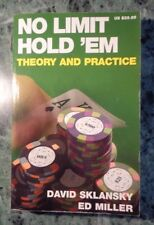NO LIMIT HOLD 'EM THEORY AND PRACTICE DAVID SKLANSKY ED MILLER TEXT IN ENGLISH