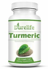 TURMERIC CURCUMIN Supplement 120 Vegi Caps of 650 mg Per Capsule with Bioperi...