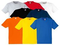 Fruit of the Loom 100% HEAVY COTTON Mens T-Shirt Plain Blank Short Sleeve Tshirt